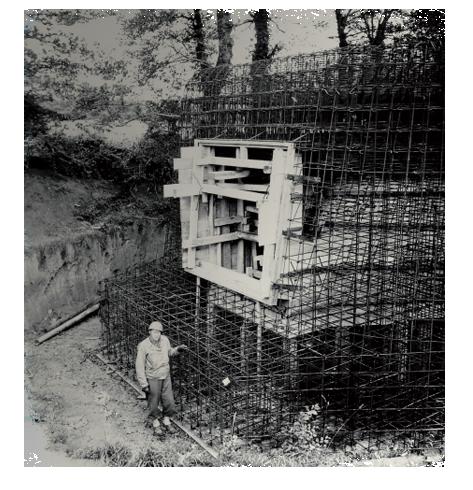 Ferraillage blockhaus bunker NARA - Musée Mémoires 39 - 45